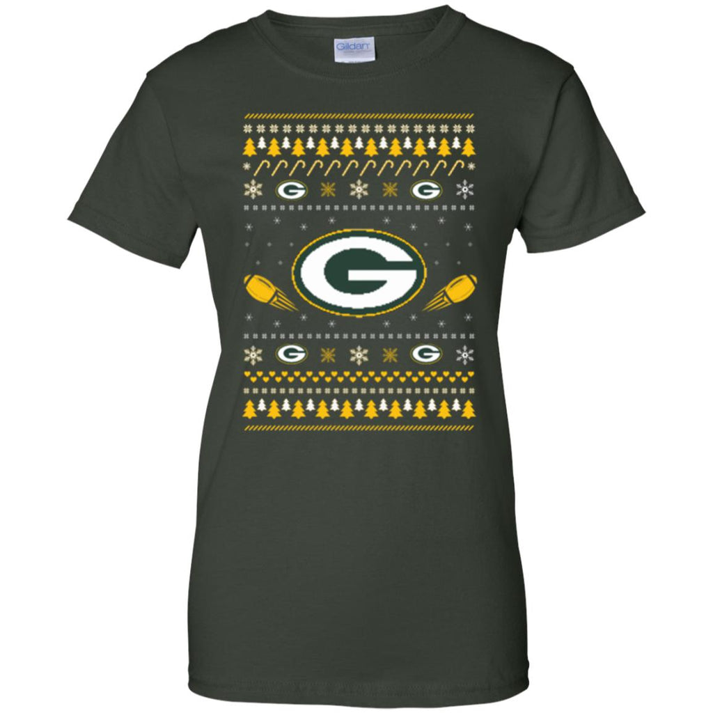 Green Bay Packers Stitch Knitting Style Ugly T Shirts
