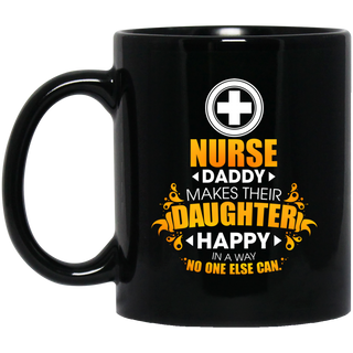 Nurse Daddy Makes Their Daughter Happy Mugs
