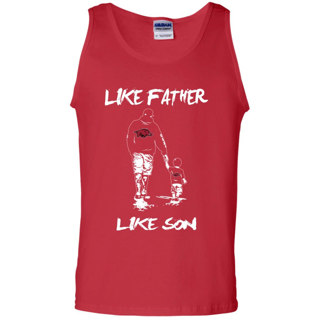 Like Father Like Son Arkansas Razorbacks T Shirt
