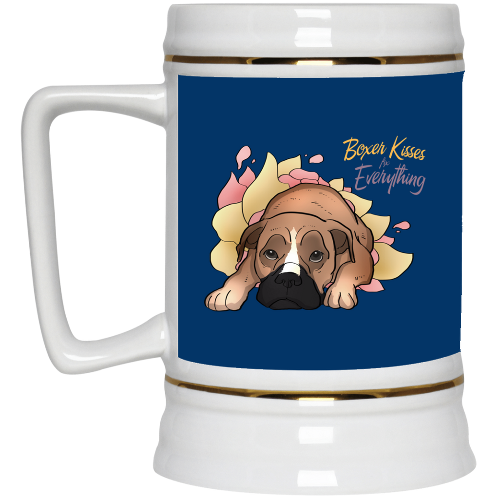 Boxer Kisses Fix Everything Mugs