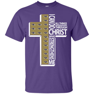 I Can Do All Things Through Christ Baltimore Ravens T Shirts