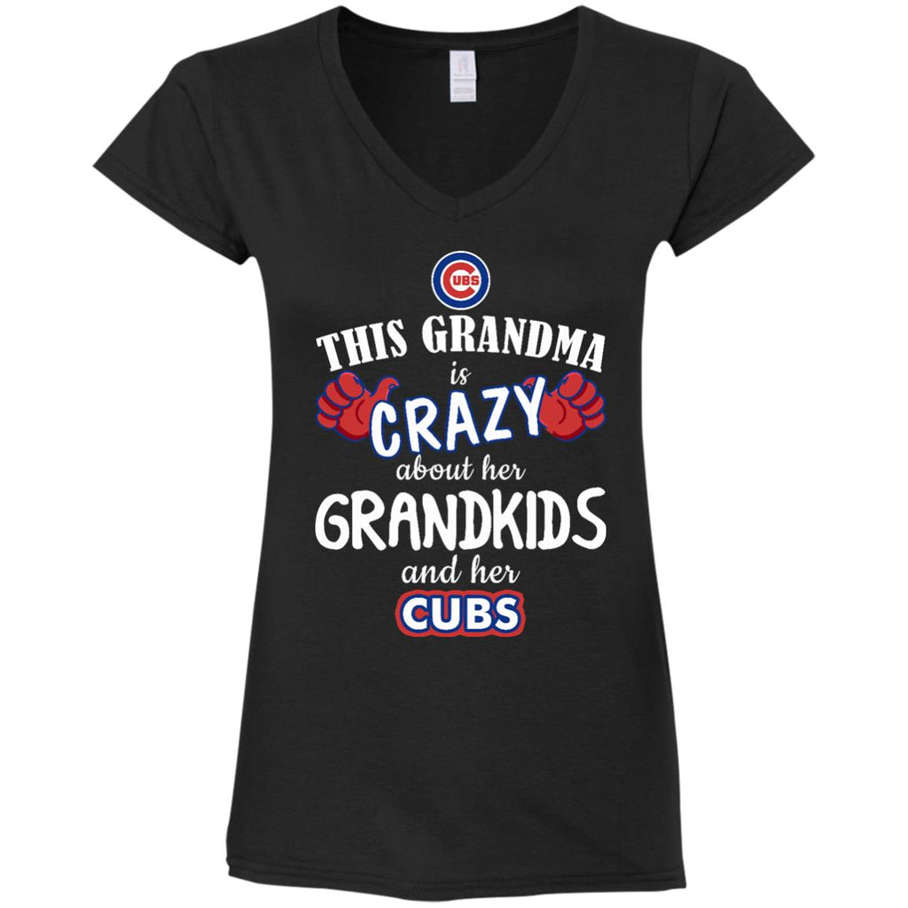 This Grandma Is Crazy About Her Grandkids And Her Chicago Cubs T Shirts