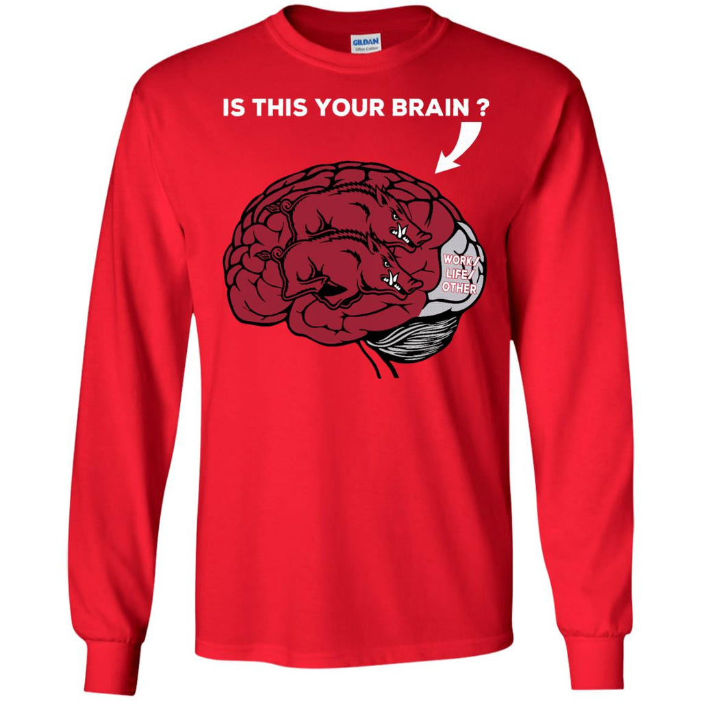 Is This Your Brain Arkansas Razorbacks T Shirt - Best Funny Store
