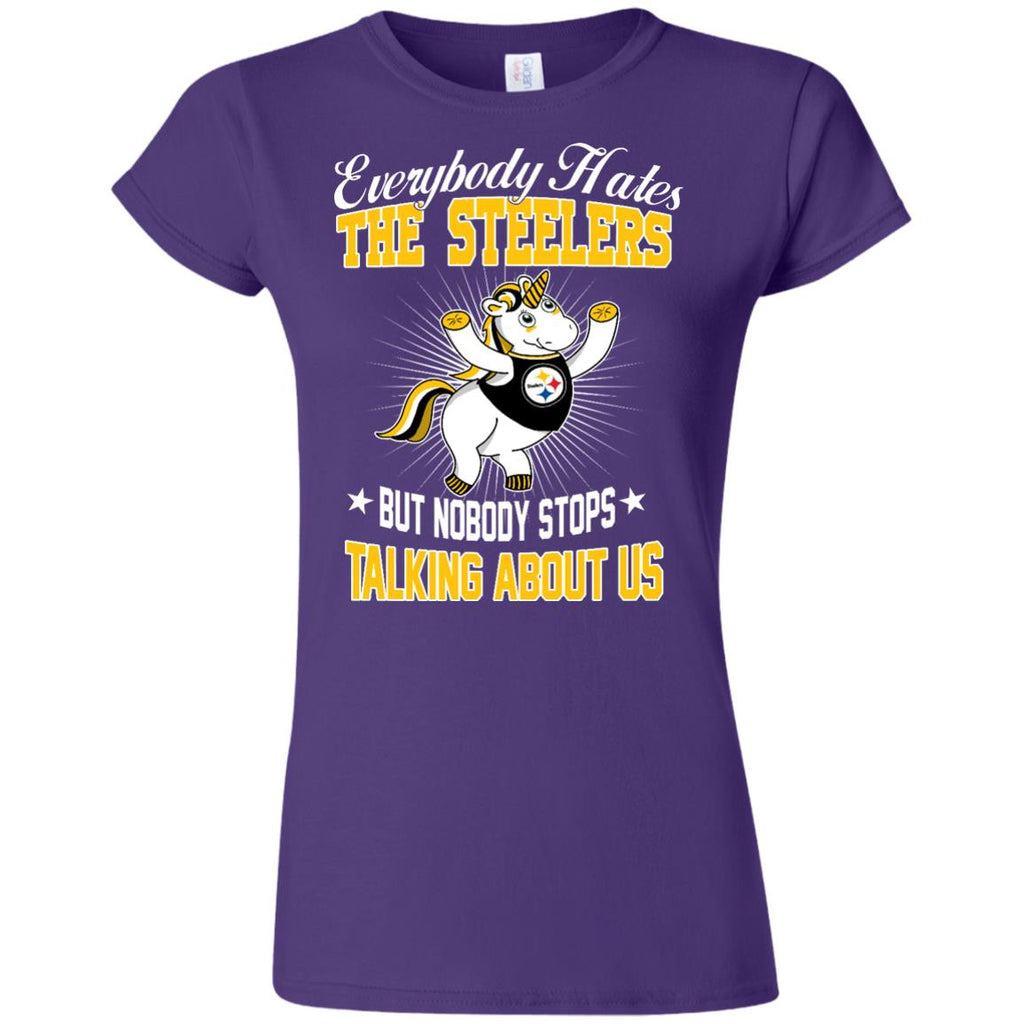 Nobody Stops Talking About Us Pittsburgh Steelers T Shirt - Best Funny Store