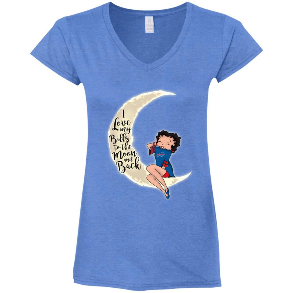 BB I Love My Buffalo Bills To The Moon And Back T Shirt