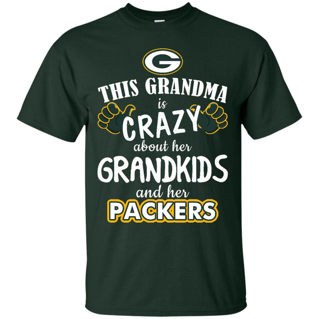 uk availability 12f5b 97f78 This Grandma Is Crazy About Her Grandkids And Her Green Bay Packers T Shirts