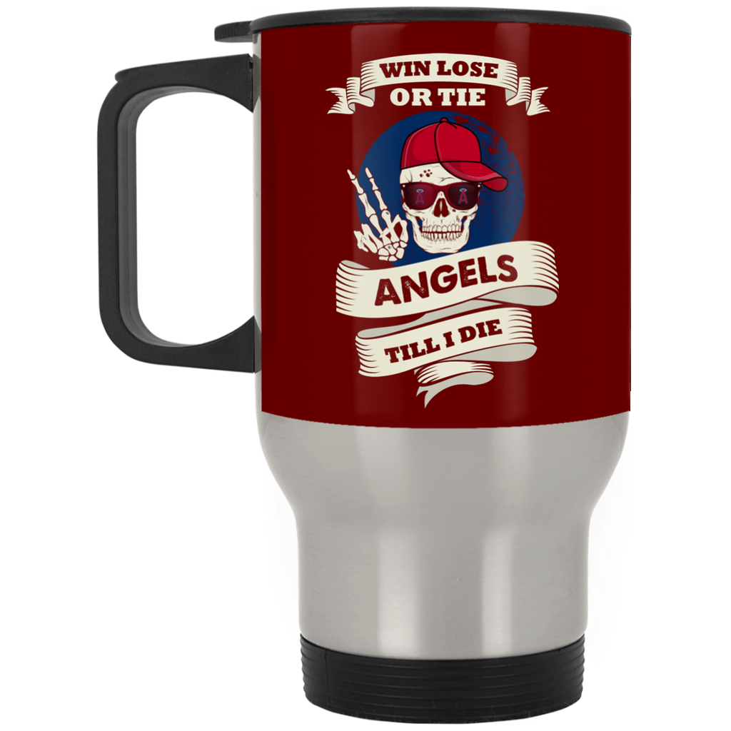 Skull Say Hi Los Angeles Angels Mugs