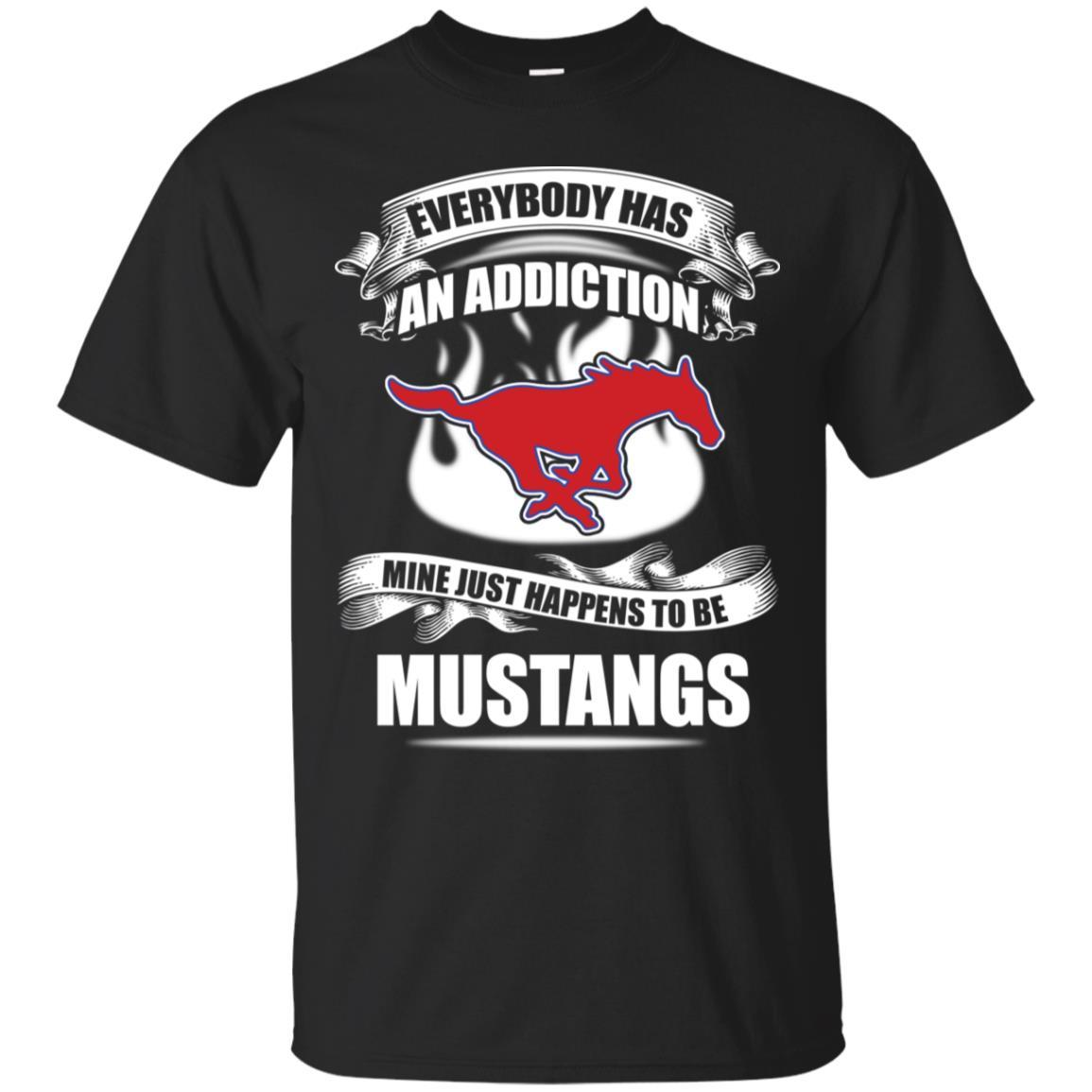 Everybody Has An Addiction Mine Just Happens To Be SMU Mustangs T Shirt