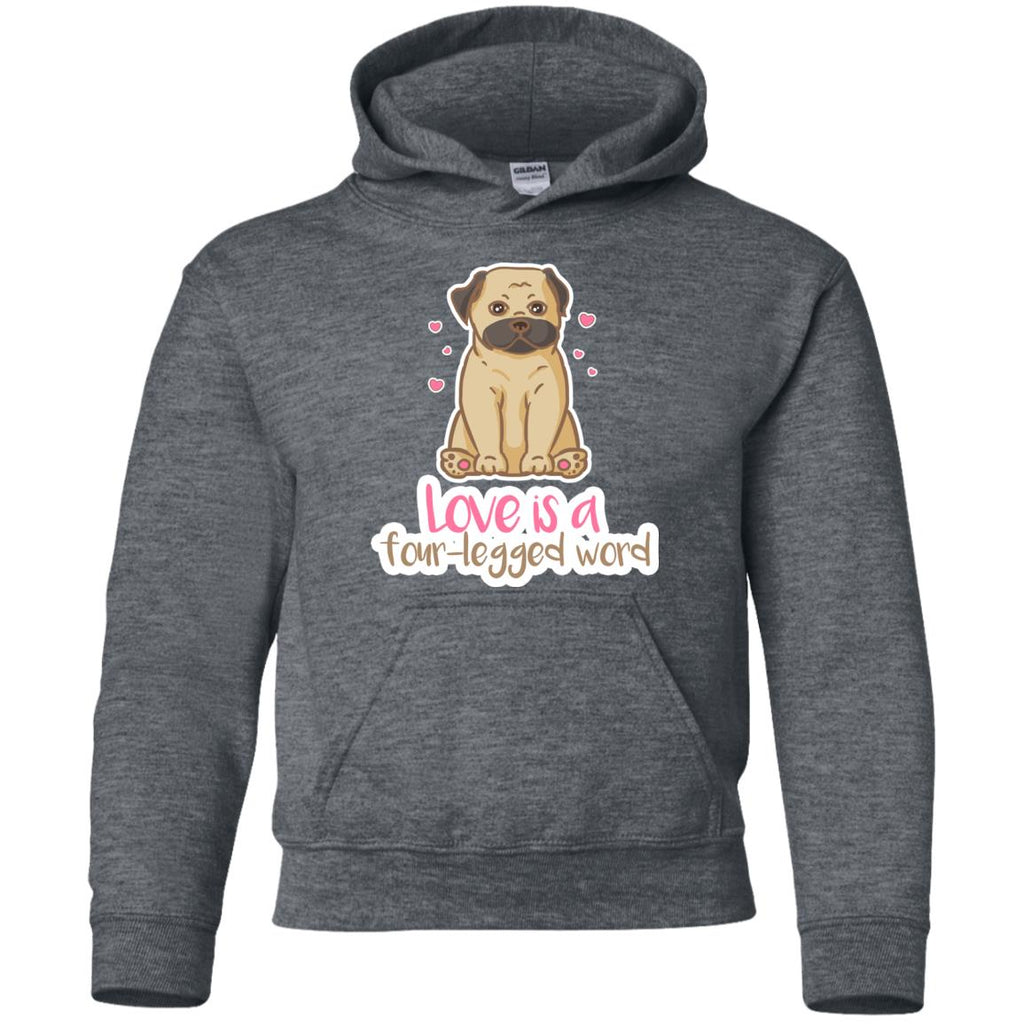 Pug - Love Is A Four-legged Word T Shirts