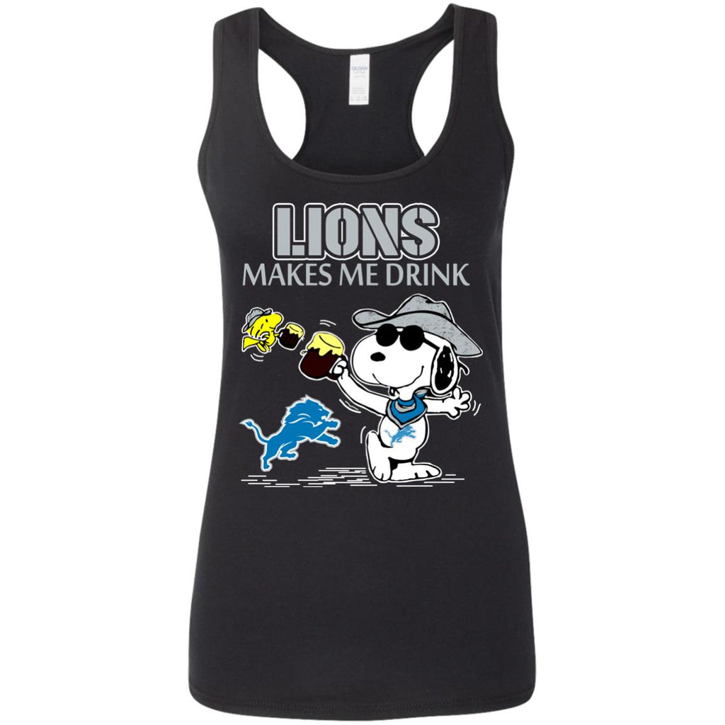 Detroit Lions Make Me Drinks T Shirts
