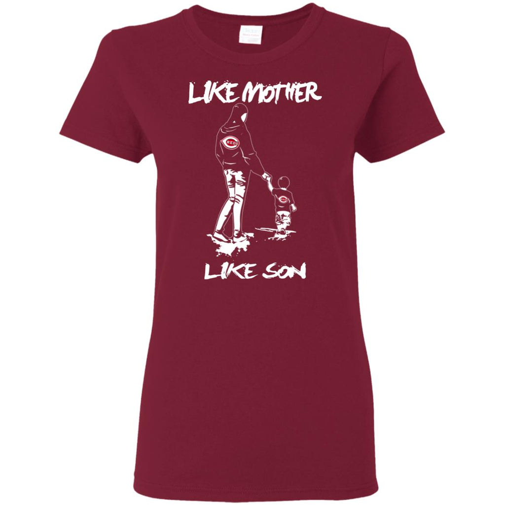 Like Mother Like Son Cincinnati Reds T Shirt
