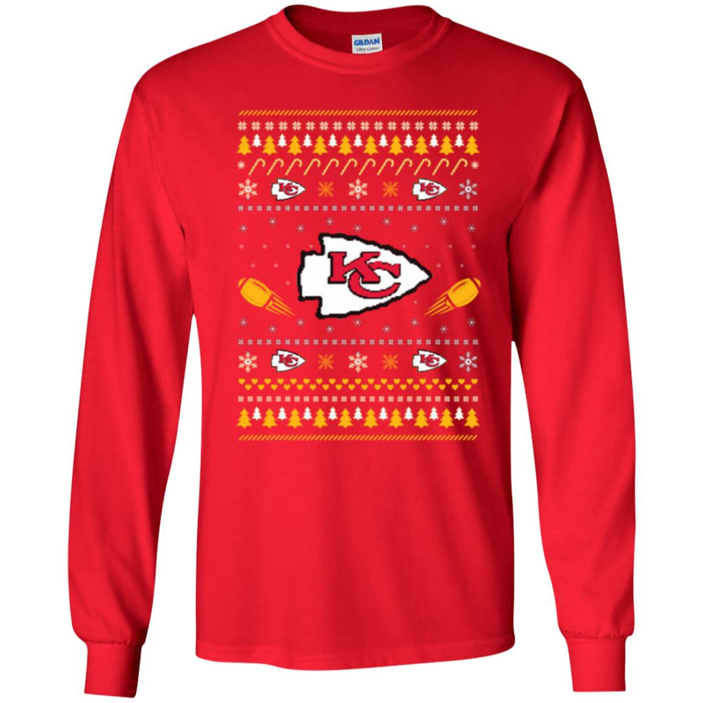 Kansas City Chiefs Stitch Knitting Style Ugly T Shirts