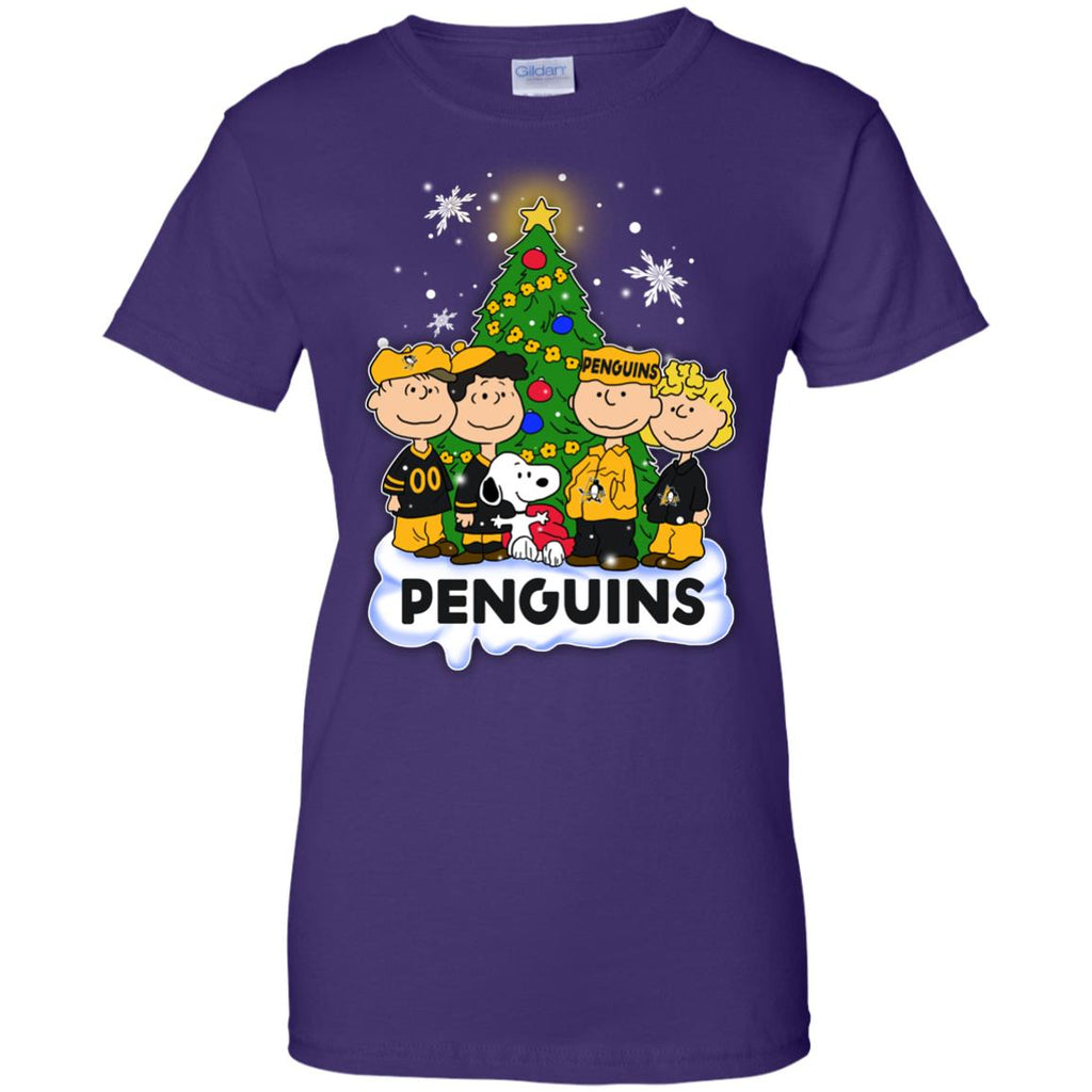 Snoopy The Peanuts Pittsburgh Penguins Christmas T Shirts