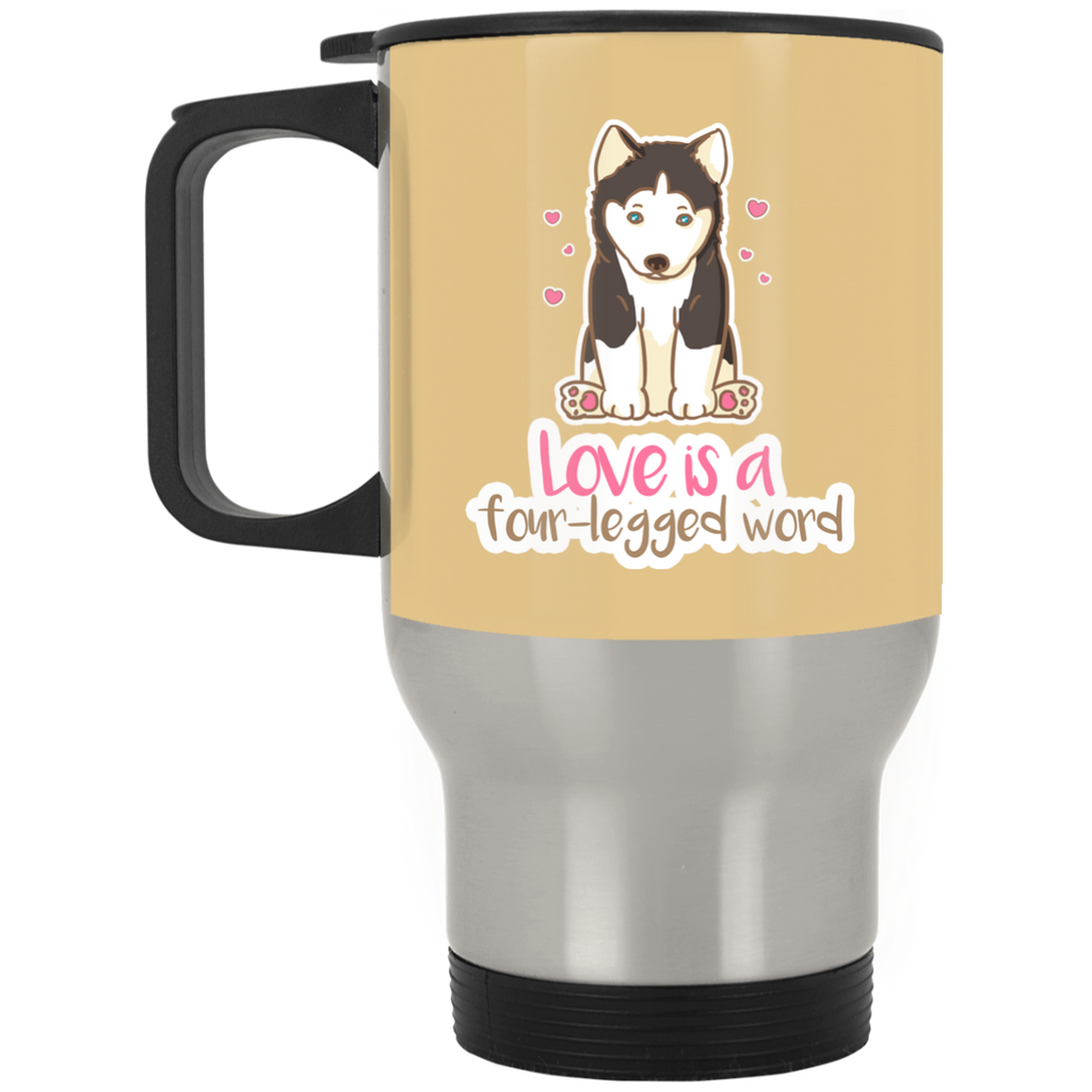 Husky - Love Is A Four-legged Word Mugs