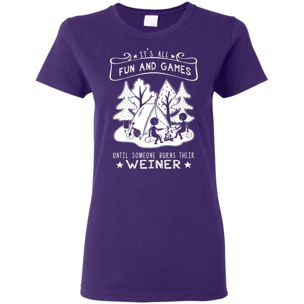 It's All Fun And Weiner Games T Shirts