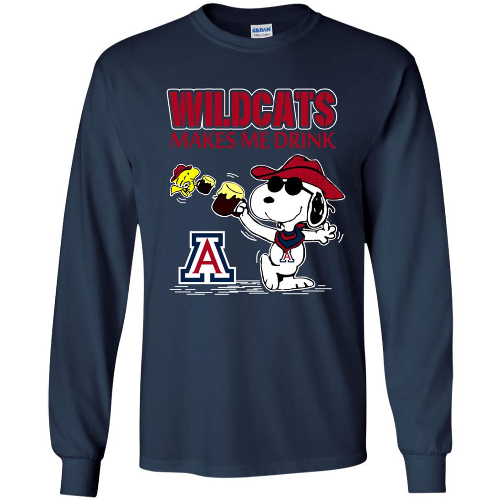 Arizona Wildcats Make Me Drinks T Shirts