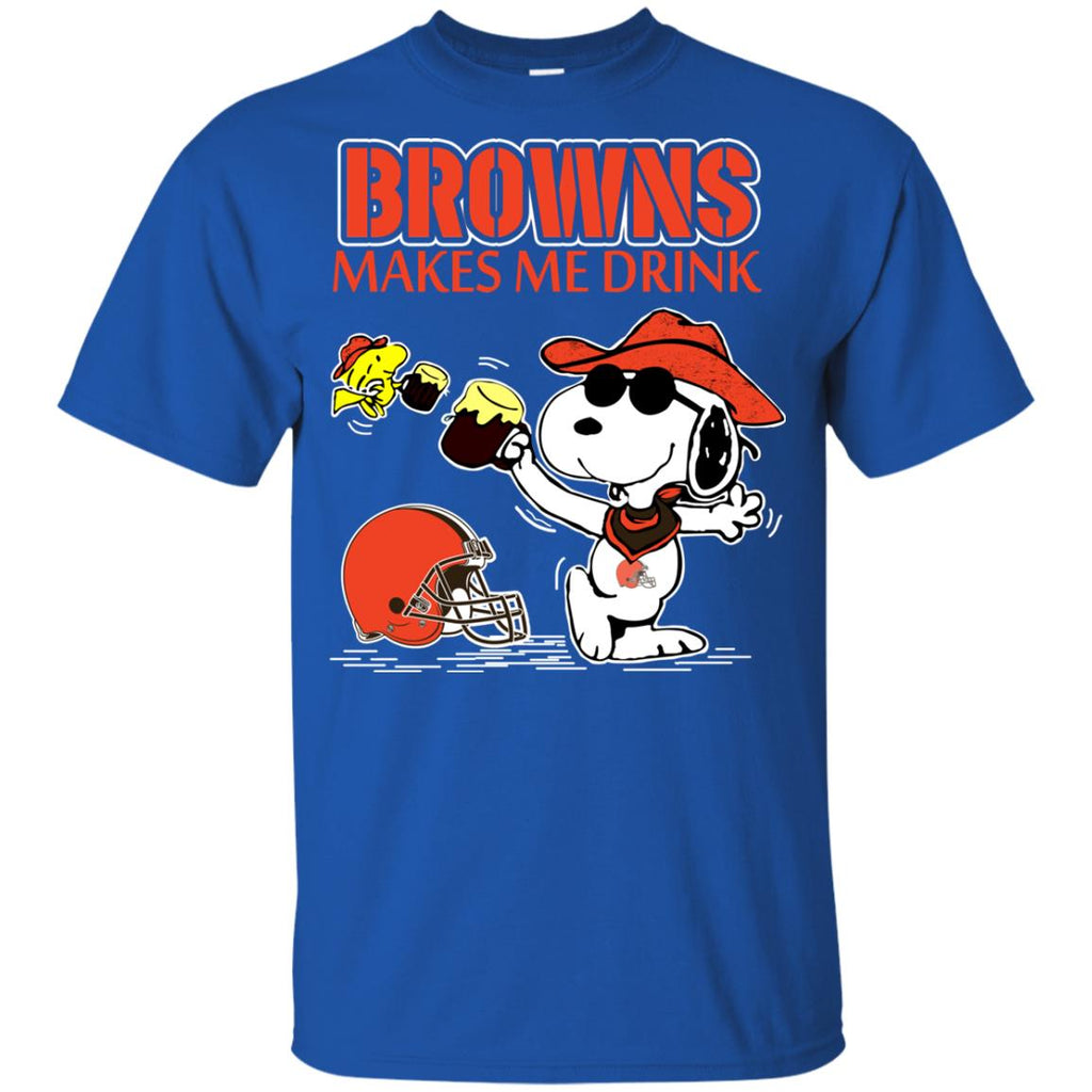 Cleveland Browns Make Me Drinks T Shirts