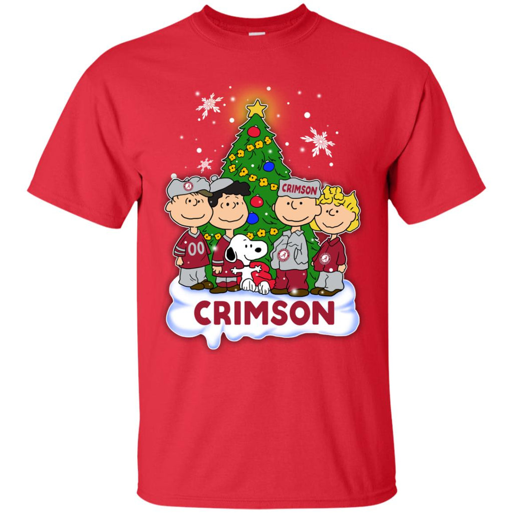 Snoopy The Peanuts Alabama Crimson Tide Christmas T Shirts