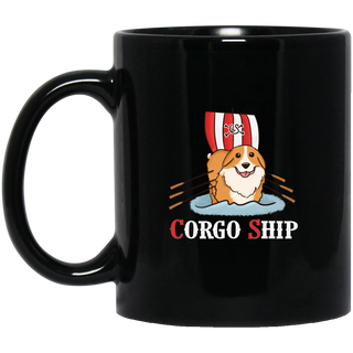 Corgo Ship Corgi Mugs
