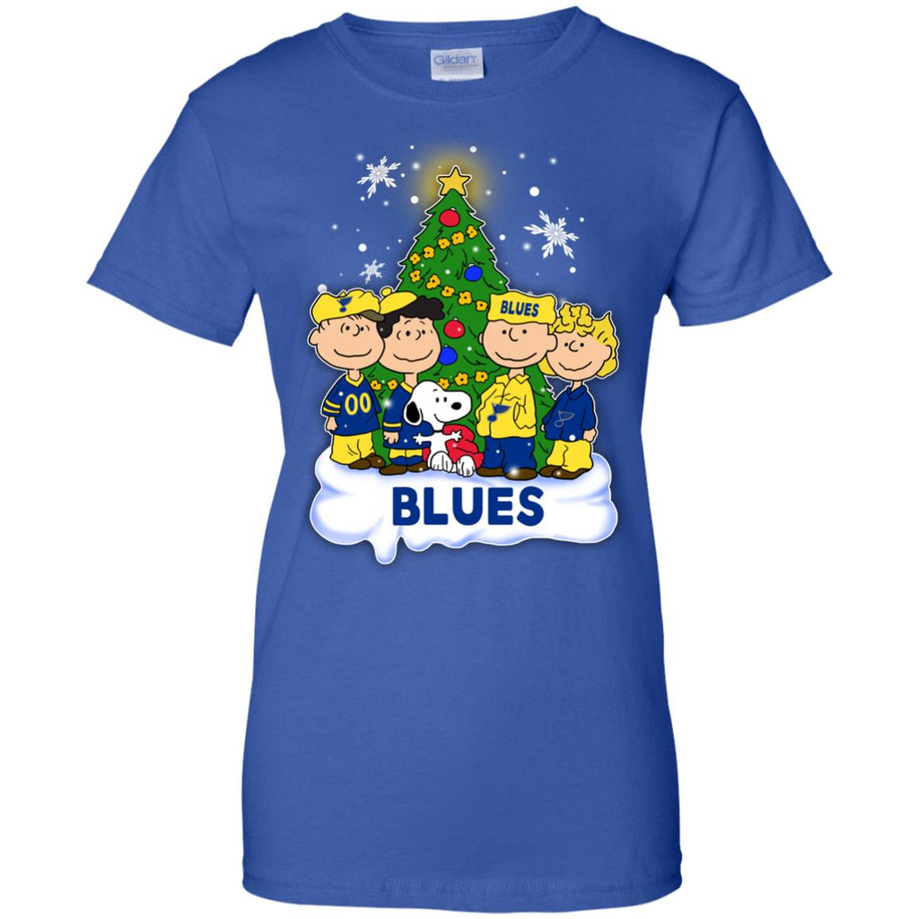 Snoopy The Peanuts St. Louis Blues Christmas T Shirts