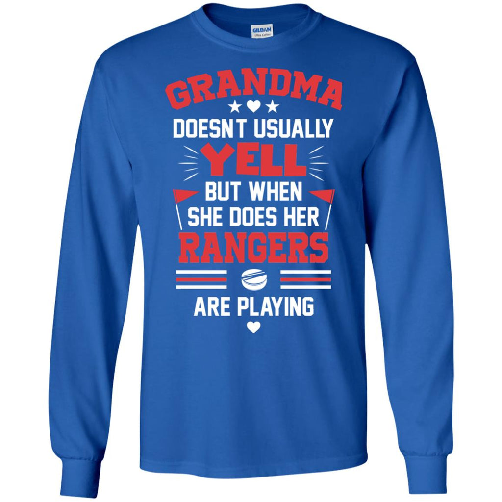 Grandma Doesn't Usually Yell New York Rangers T Shirts