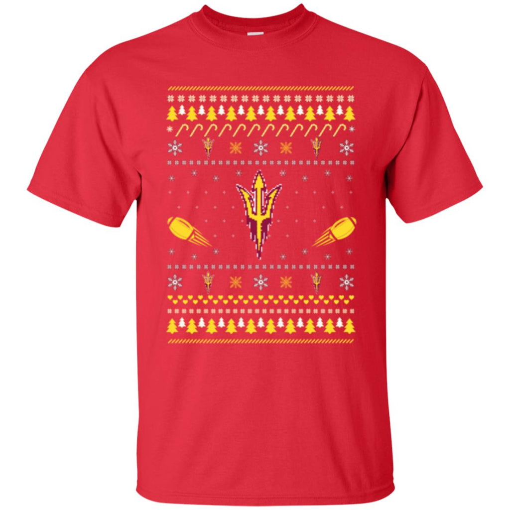 Arizona State Sun Devils Stitch Knitting Style Ugly T Shirts