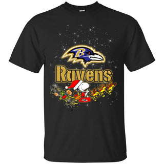 Snoopy Christmas Baltimore Ravens T Shirts