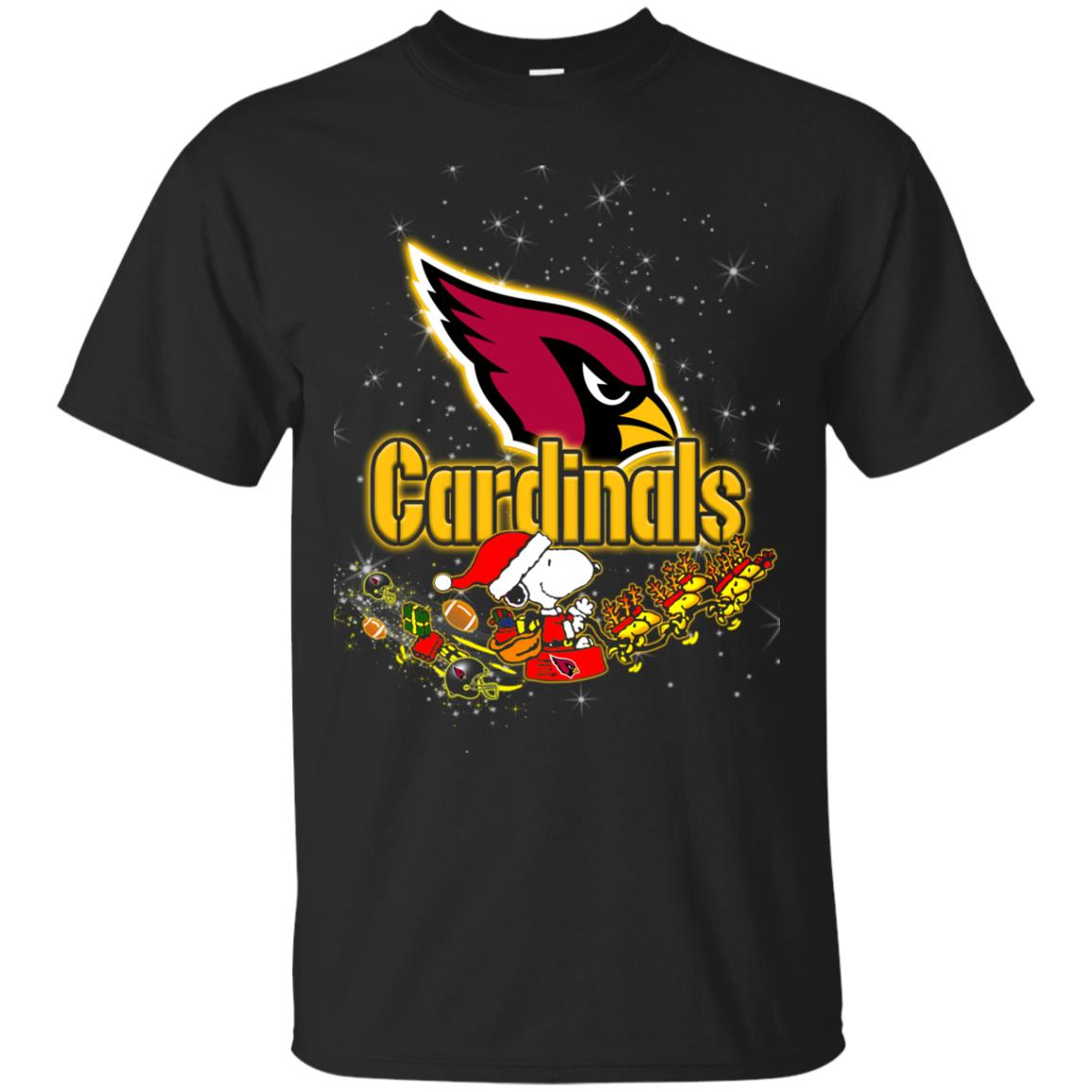 Snoopy Christmas Arizona Cardinals T Shirts