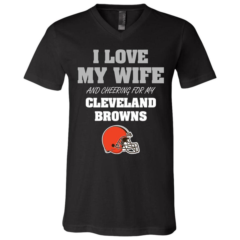 I Love My Wife And Cheering For My Cleveland Browns T Shirts