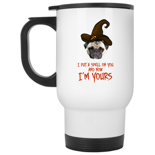 I Put A Spell On You Pug Travel Mugs