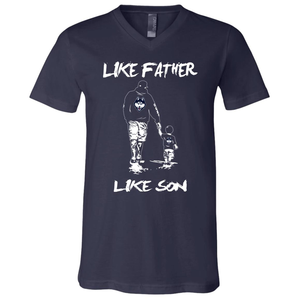 Like Father Like Son Connecticut Huskies T Shirt