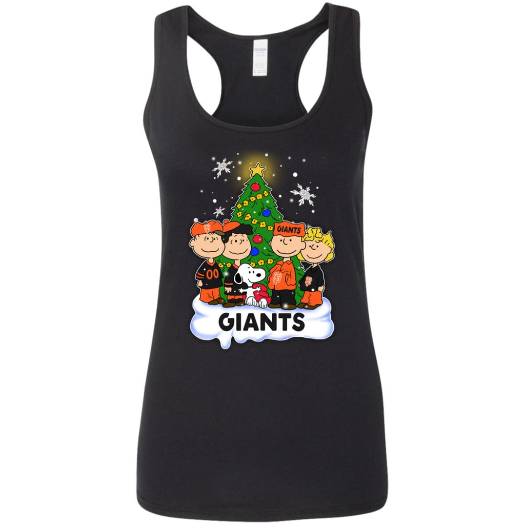 Snoopy The Peanuts San Francisco Giants Christmas T Shirts