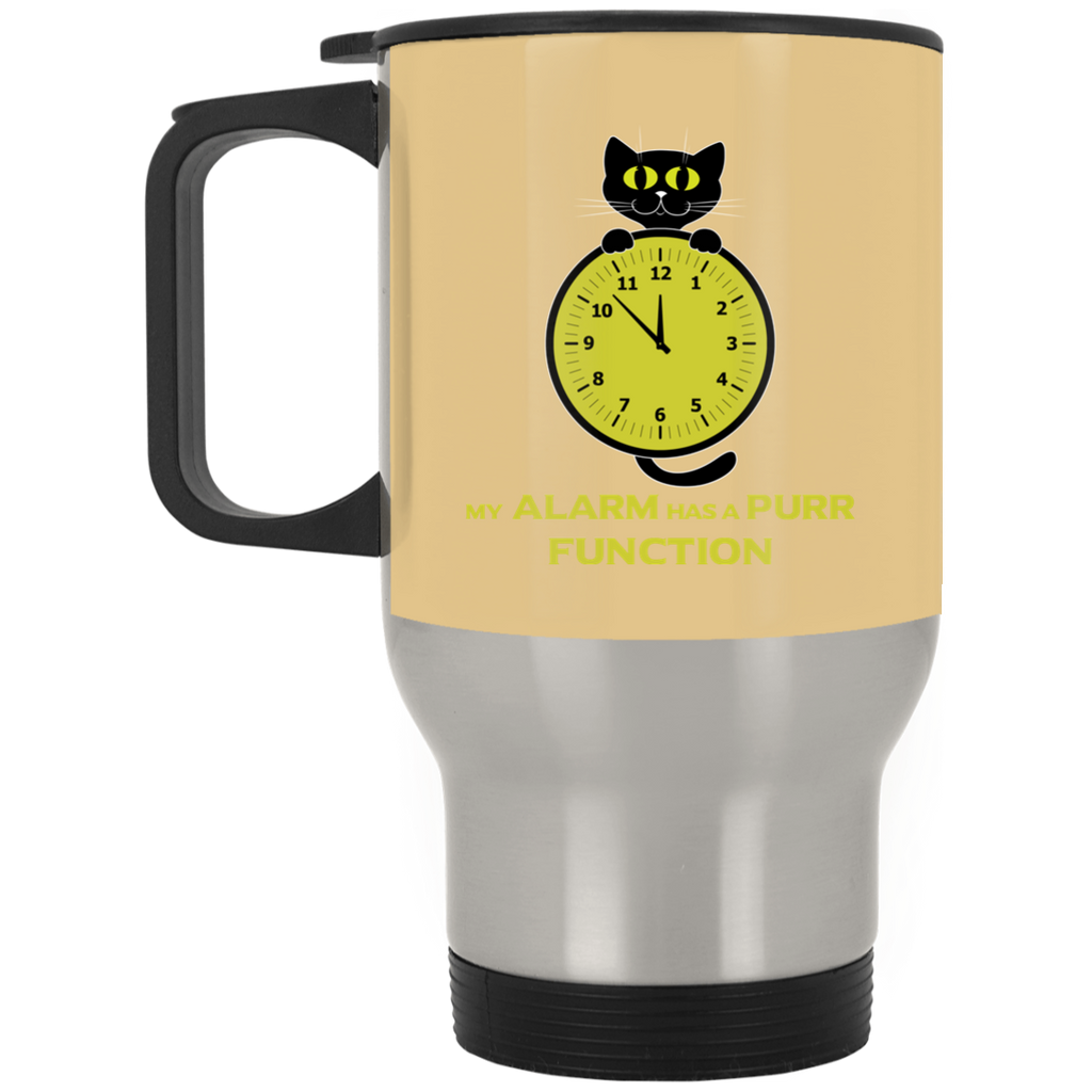 My Alarm Has A Purr Function Cat Mugs