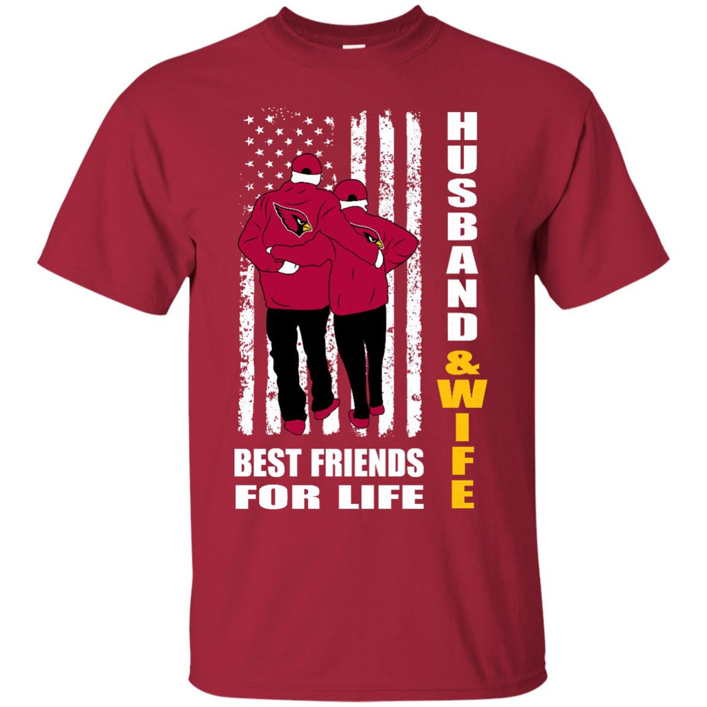 Husband And Wife Best Friends For Life Arizona Cardinals T Shirt - Best Funny Store