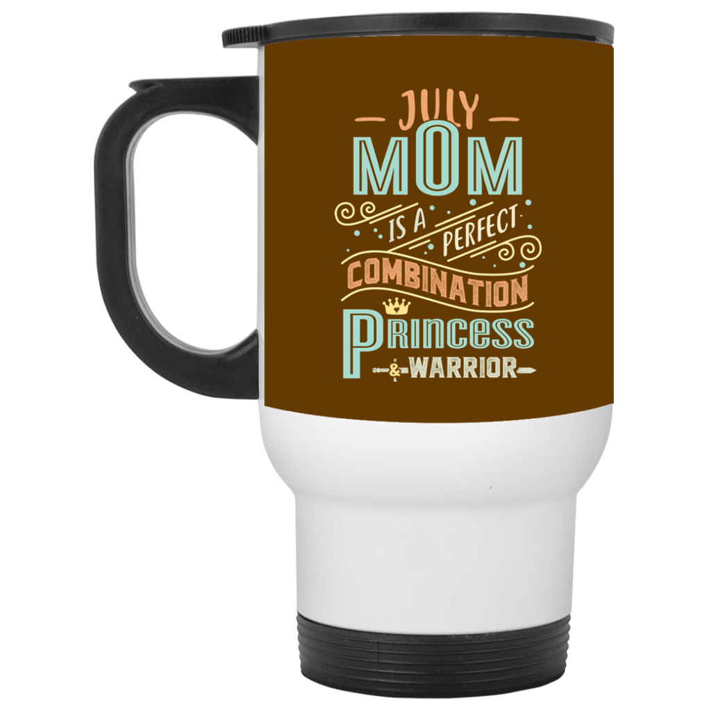 July Mom Combination Princess And Warrior Travel Mugs