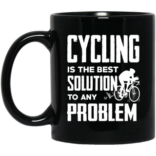 Cycling Is The Best Solution Mugs