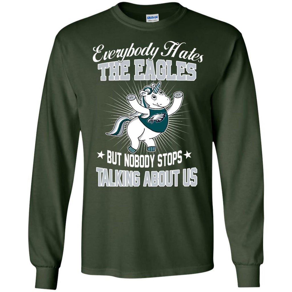 Nobody Stops Talking About Us Philadelphia Eagles T Shirt - Best Funny Store