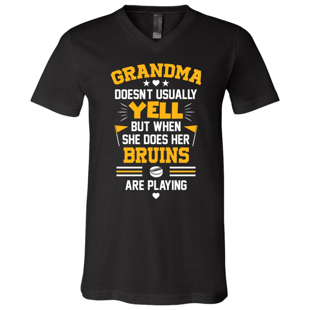 Grandma Doesn't Usually Yell Boston Bruins T Shirts