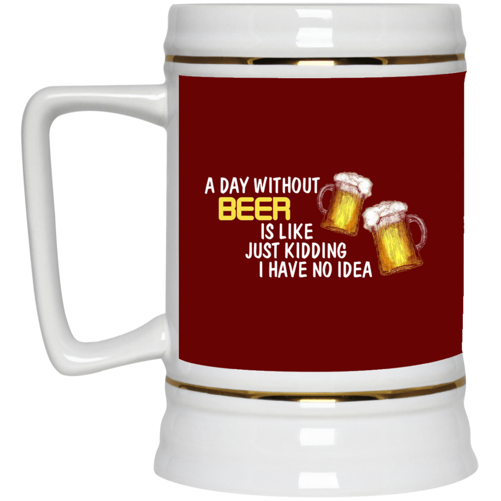 A Day Without Beer Mugs