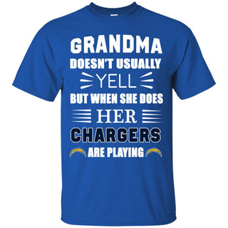Grandma Doesn't Usually Yell Los Angeles Chargers T Shirts