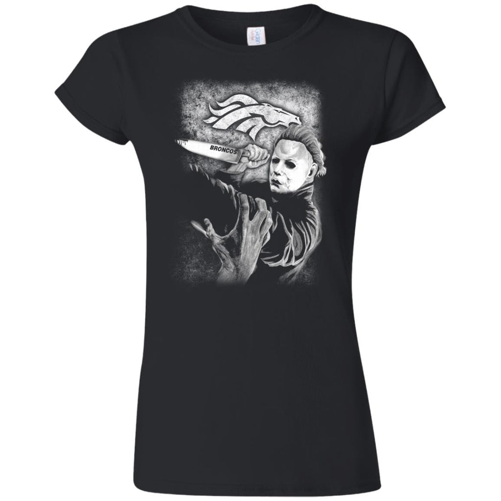 Michael Jason Myers Friday The 13th Denver Broncos Halloween T Shirts - Best Funny Store