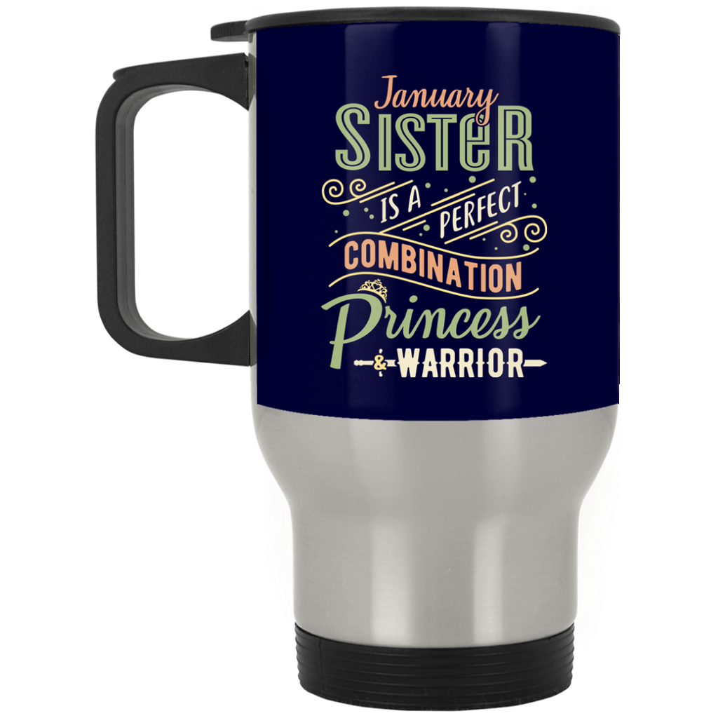 January Sister Combination Princess And Warrior Mugs