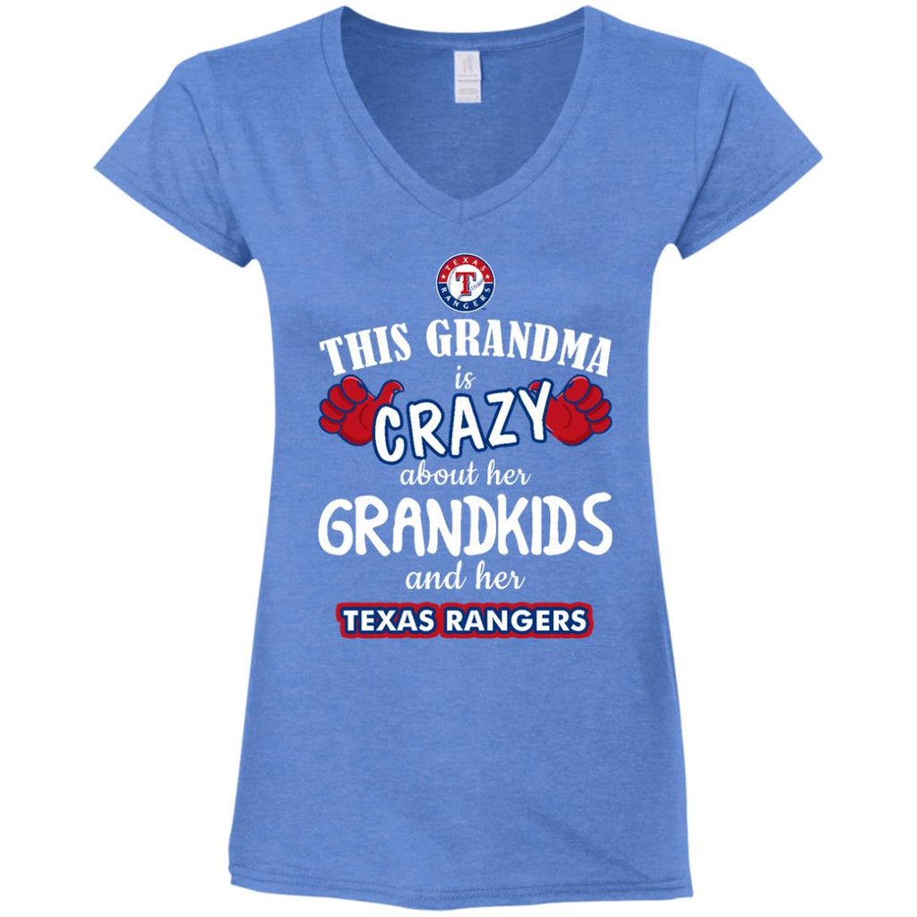 This Grandma Is Crazy About Her Grandkids And Her Texas Rangers T Shirts