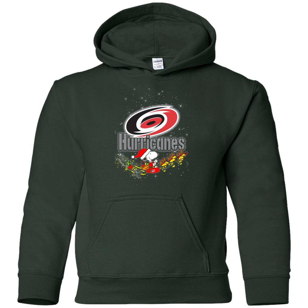 Snoopy Christmas Carolina Hurricanes T Shirts