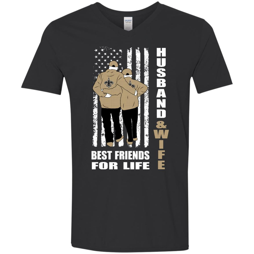 Husband And Wife Best Friends For Life New Orleans Saints T Shirt - Best Funny Store