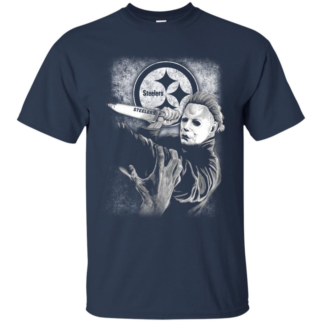 Michael Jason Myers Friday The 13th Pittsburgh Steelers Halloween T Shirts - Best Funny Store