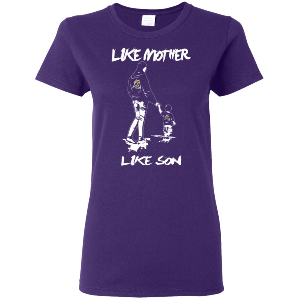 Like Mother Like Son Miami Marlins T Shirt