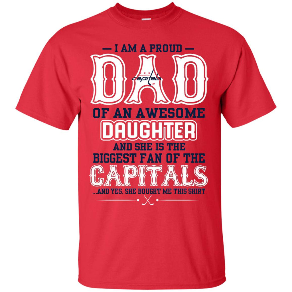 661ae8ff Proud Of Dad Of An Awesome Daughter Washington Capitals T Shirts – Best  Funny Store