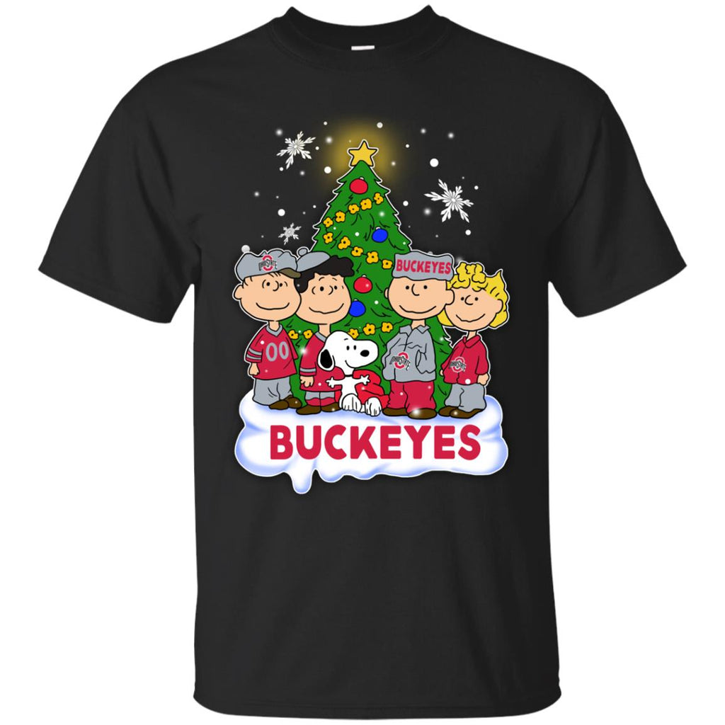 Snoopy The Peanuts Ohio State Buckeyes Christmas T Shirts