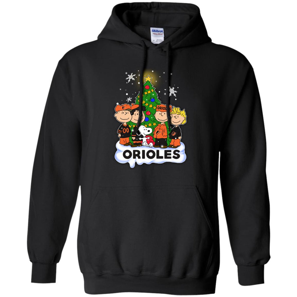 Snoopy The Peanuts Baltimore Orioles Christmas T Shirts